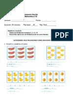 Prueba Tablas de Multiplicaciones