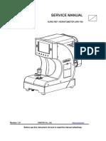 Unicos URK-700 Keratometer - Service Manual