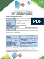 Guía de Actividades y Rúbrica de Evaluación Unidad 1 Etapa 2 Fundamentos de La Epidemiología
