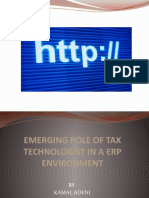 Kamal Adeni - Emerging Role of Tax Technologist in a ERP Environment