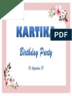 Kartika Birthday