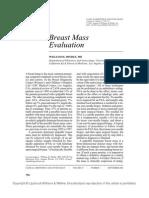 Breast Mass Evaluation
