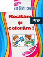 Carte De Colorat Recitam Si Coloram