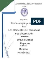 Los Elementos Del Clima y Su Observación