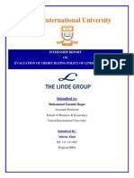 Report on credit policy of Linde BD.docx