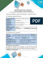 Guía de Actividades y Rubrica de Evaluación - Ciclo de La Tarea 1 - Diseño de Cuadro Comparativo