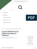 La Guía Definitiva de Los Mejores Hashtags de Instagram