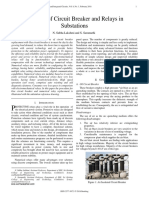 Analysis of Circuit Breaker and Relays in Substations