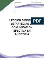 Lección Dieciseis Estrategias de Comunicación Efectiva en Auditoría