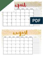 Calendar - printable