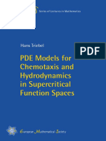 2017 [Book] PDE Models for Chemotaxis and Hydrodynamics in Supercritical Function Spaces