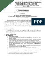 Pengumuman Seleksi Calon Pegawai Negeri Sipil Di Lingkungan Pemerintah Daerah Kabupaten Klungkung Tahun Anggaran 2018_419943