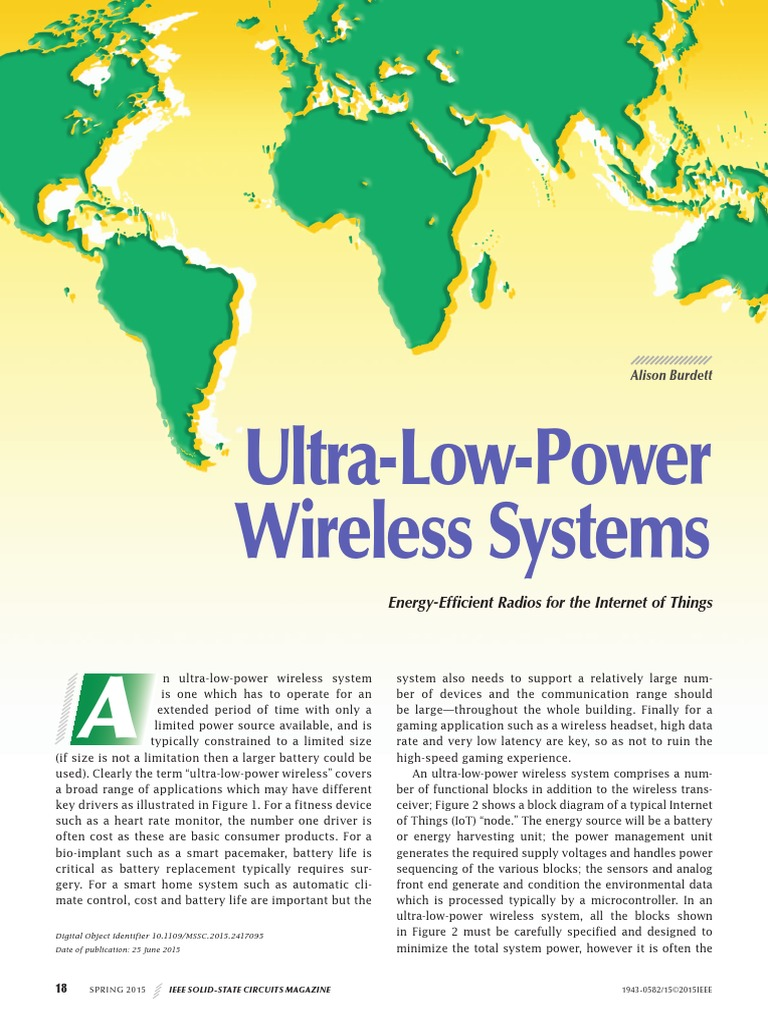 Ultra Low Power Wireless Systems Energy Efficient Radios For The Mcu Controlled Superregeneration With Quartz Oscillators Internet Of Thingspdf Things Modulation