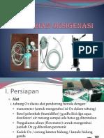 pemberian o2 (oksigenasi)