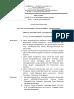 SK Struktur Organisasi UPTD Puskesmas Sindangwangi