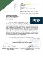 Autorización del Congreso del Estado para la venta de los terrenos a Grupo Pachuca