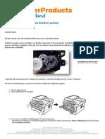 Brother DCP 70XX Drum Reset Procedure-TPN