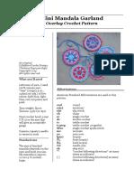Mini Mandala Garland Overlay Crochet Pattern