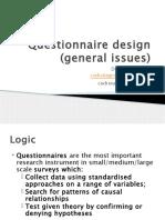 6.Questionnaire Design