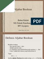 3. Aljabar Boolean