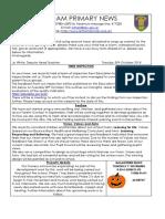 30.10.18 Newsletter