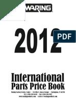 WARING-2012 Int Part Price Book