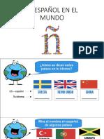 Presentazione1 - El Espanol en El Mundo