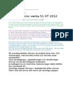 Kemi 1 Prov 2 HT2012 Facit
