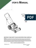 Operator's Manual Model 568 (770-10163d)