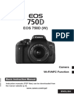 EOS 750D Basic Instruction Manual En