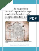 proceso de ocupación y acceso a la tierra en el ejido de Baradero en la segunda mitad del siglo XIX