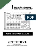 ZOOM R8 Audio Interface manual