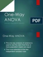 Adl One Way Anova