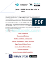 Vector Calculus GATE Study Material in PDF 1