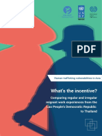 What's the incentive? Comparing regular and irregular migrant work experiences from Lao People's Democratic Republic to Thailand