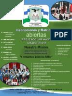 Matrículas 2019 Colegio Divino Niño