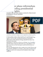 Varadkar Plans Referendum on Extending Presidential Voting Rights
