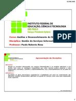 Gestão de Serviços Informatizados (GSIA4) - Material Completo