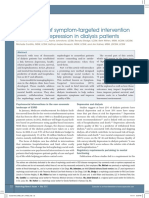 The promise of symptom-targeted intervention to manage depression in dialysis patients- Part 1