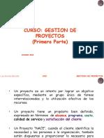 Gestion de Proyectos Primera Parte 2018 2