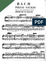 19 piezas fáciles Joan Sebastian Bach