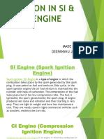 Emissions in Si & Ci Engine