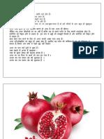 Pomegranate Hindi Essay