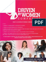 Driven by Women Companies Programs and Awards Editable