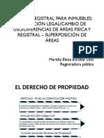 Materia Registral Para Inmuebles - Sunarp