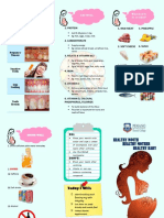 Pamphlet for oral health of pregnant mother