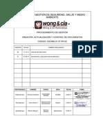 SSOMA.01.07.PR.02 Creación, Actualización y Control de La Informacion Documentada