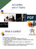Managing Conflict in Teams
