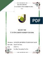 Download Bai Thi Nguyen Thi Thom - Trương Cao Dang Cong Nghiệp Tuy Hoa