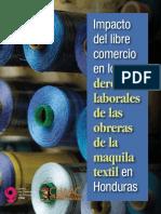 Impacto del libre comercio en los derechos laborales. MAquila textil. Honduras